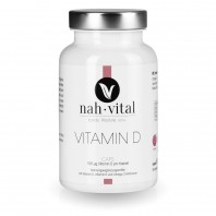 nah-vital Vitamin D Caps   120 Kapseln für 1 Jahr   mit Vitamin D, K2 und Omega-3-Fettsäuren