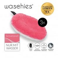 waschies Abschmink- & Waschpads 3er-Set - pink/weiß