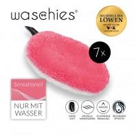 waschies Abschmink- & Waschpads 7er-Set - pink/weiß