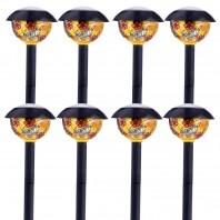 Solarlampen rund, Tiffany/ 8er-Set - Freisteller