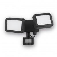 EASYmaxx Security LED-Doppelstrahler 8 W in Schwarz - Freisteller