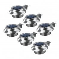 EASYmaxx Solar Dachrinnenleuchten in Edelstahl - 6er-Set