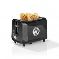 HSV Toaster mit Soundfunktion mit Logo - schwarz/silber