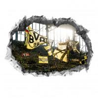 BVB 3D-Wandtattoo - Fankurve