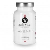 nah-vital Hair & Nails Caps   90 Kapseln für 3 Monate   mit Biotin, Selen und Zink