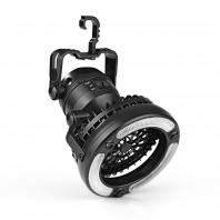 EASYmaxx LED-Leuchte mit integriertem Ventilator - 360° ausrichtbar - schwarz