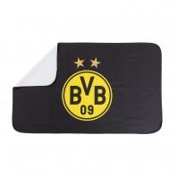 BVB Sporthandtuch Deluxe - 80x130 cm - schwarz/gelb