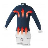 CLEANmaxx Bügler für Hemden & Blusen in Weiß/Silber